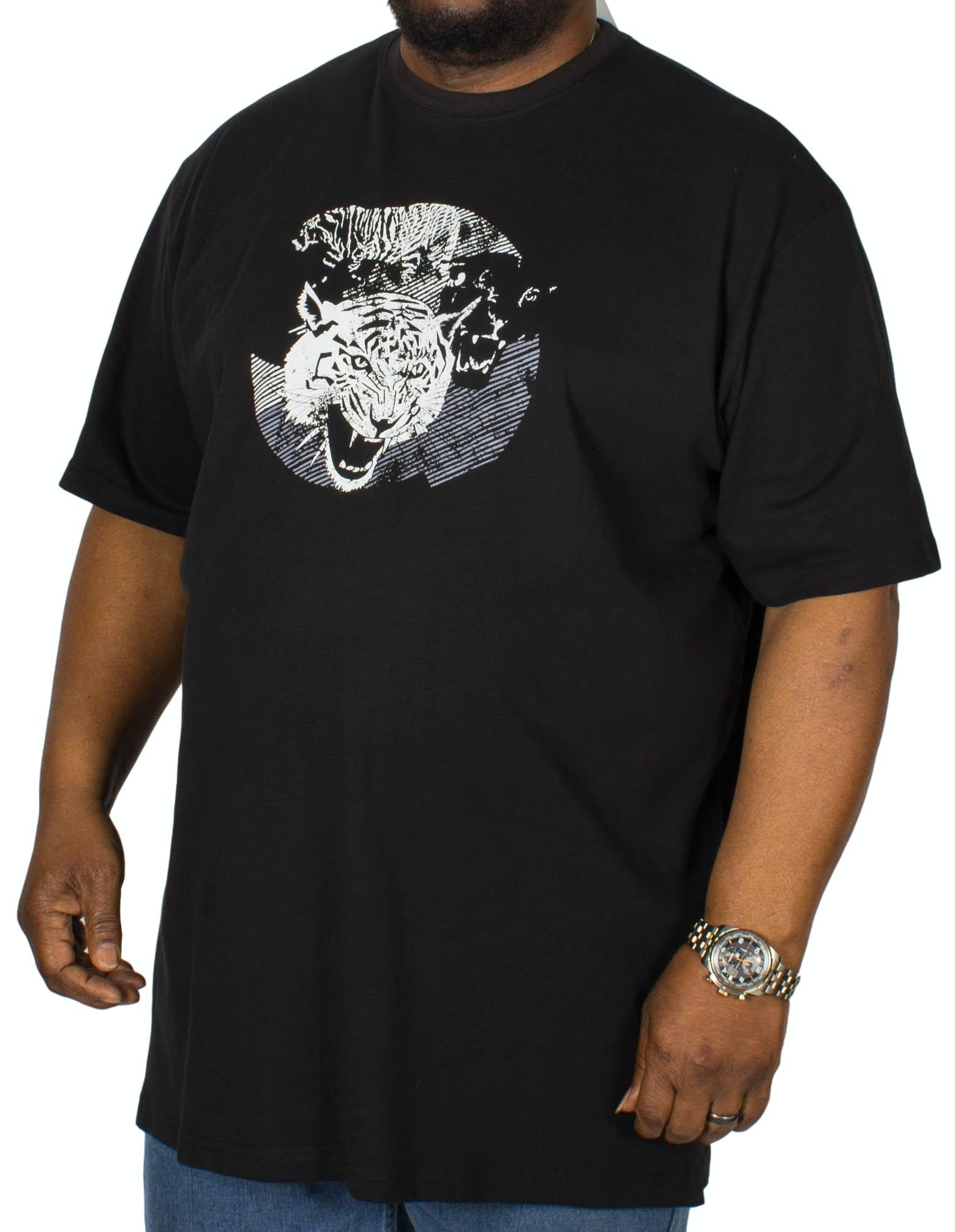Cotton Valley Tiger Printed T-Shirt Black