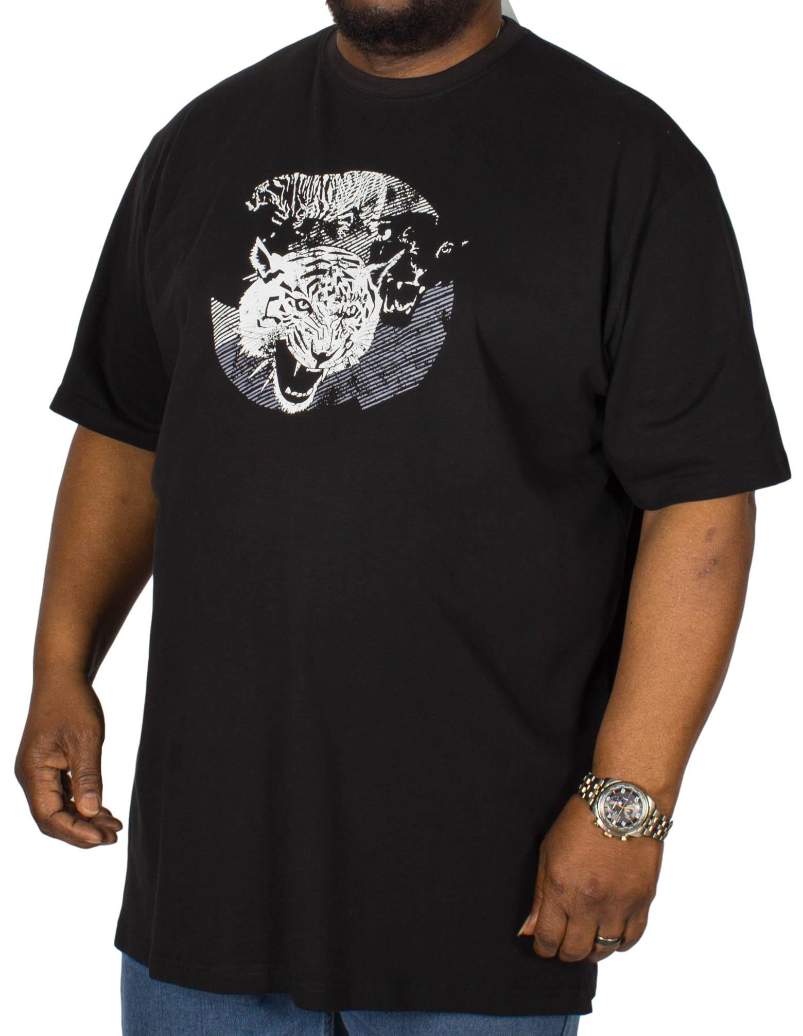 Cotton Valley Tiger Printed T-Shirt Black