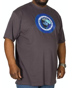 Cotton Valley Paisley Circles Printed T-Shirt Charcoal