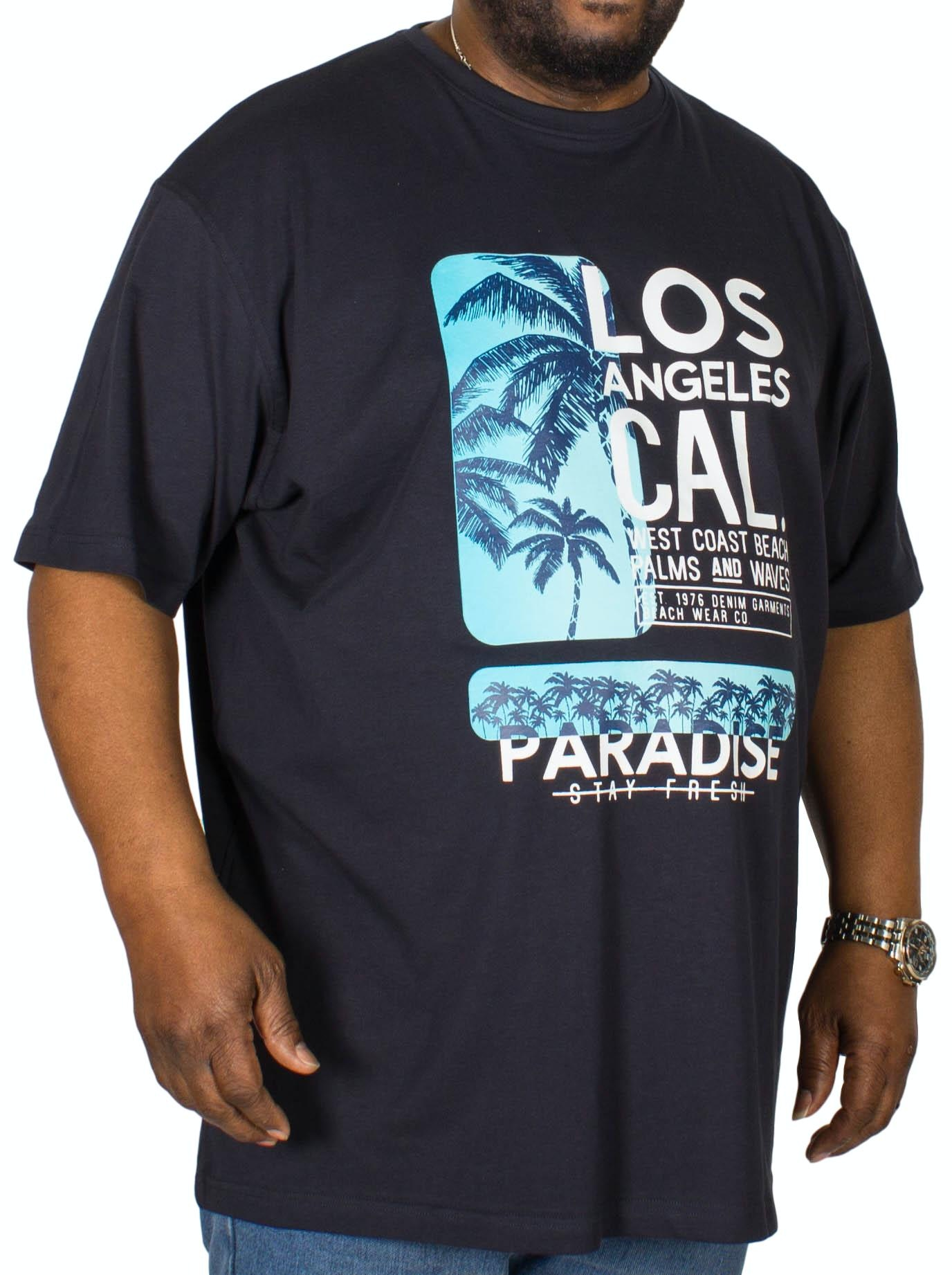 Espionage Los Angeles Printed T-Shirt Navy
