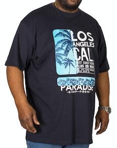 ca28070d8aa Espionage Los Angeles Printed T-Shirt Navy