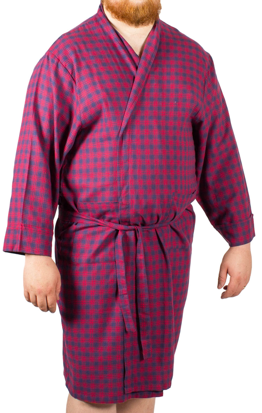 Rael Brook Dressing Gown Blue White Check Nightwear Dressing Gowns Kimonos
