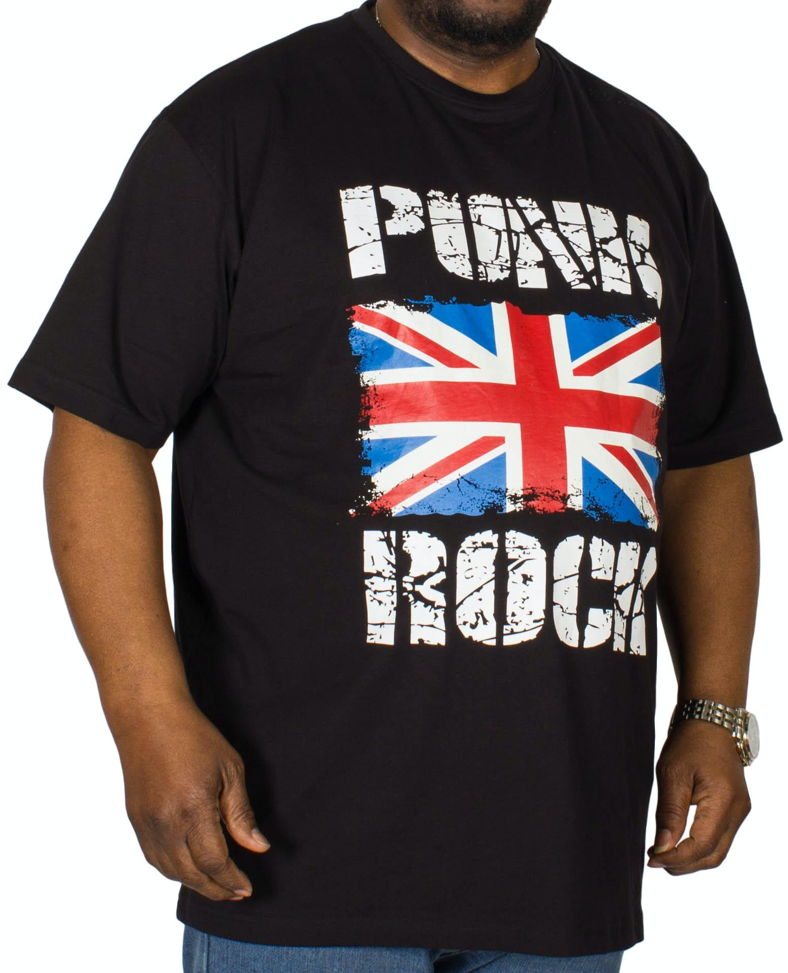 Espionage Punk Rock Printed T-Shirt Black