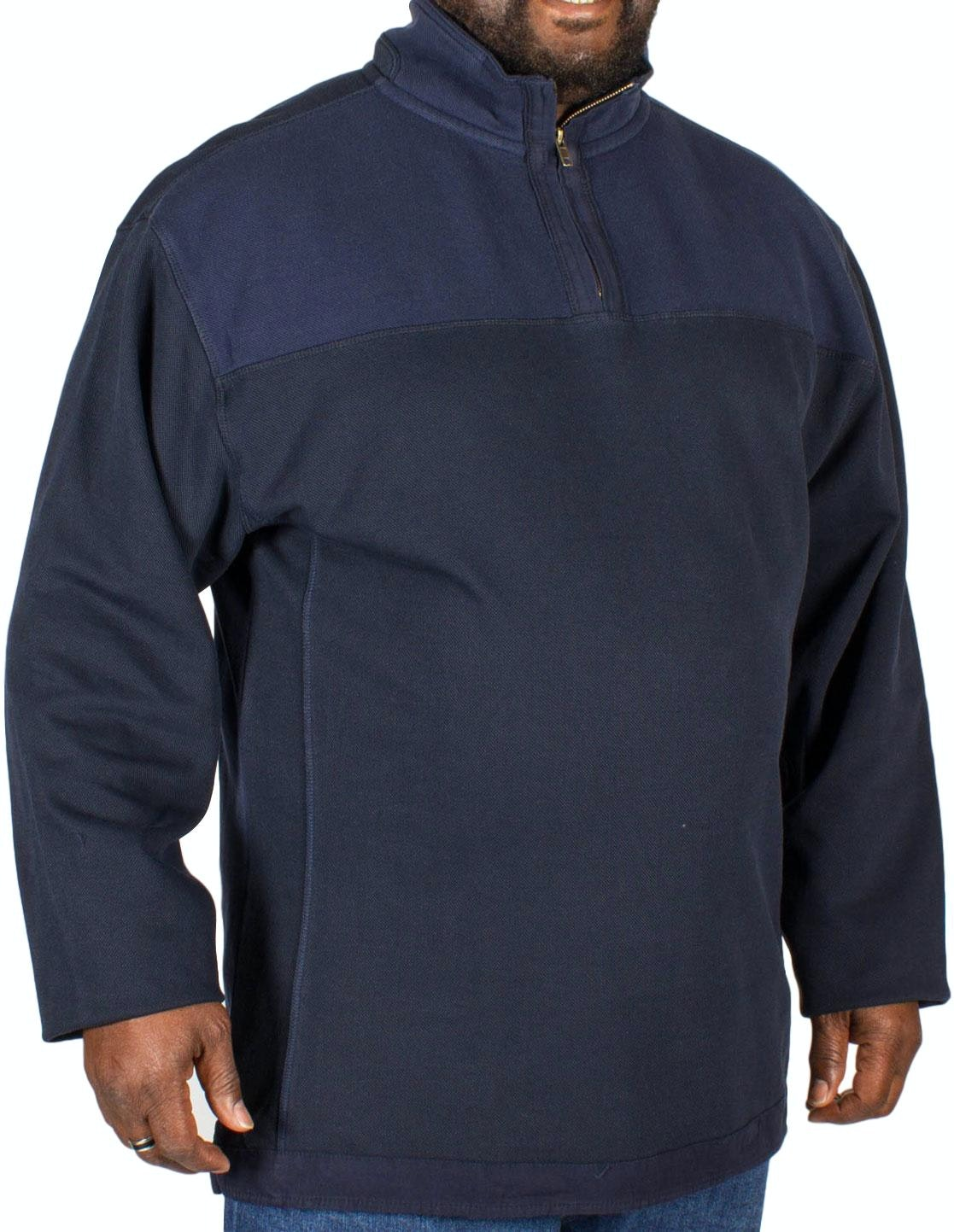 KAM Quarter Zip Top Navy