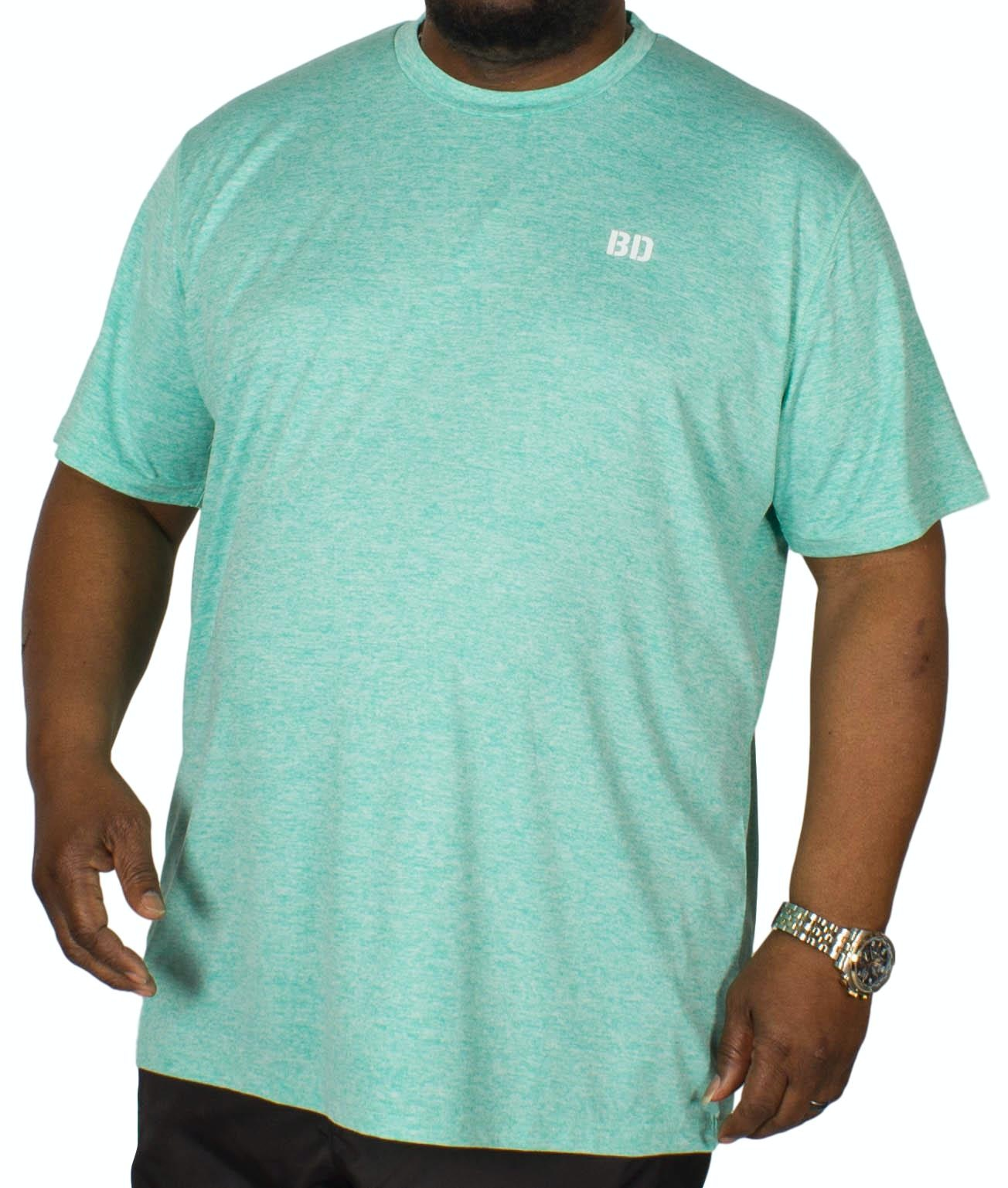 Bigdude Stretch Gym T-Shirt Green Marl