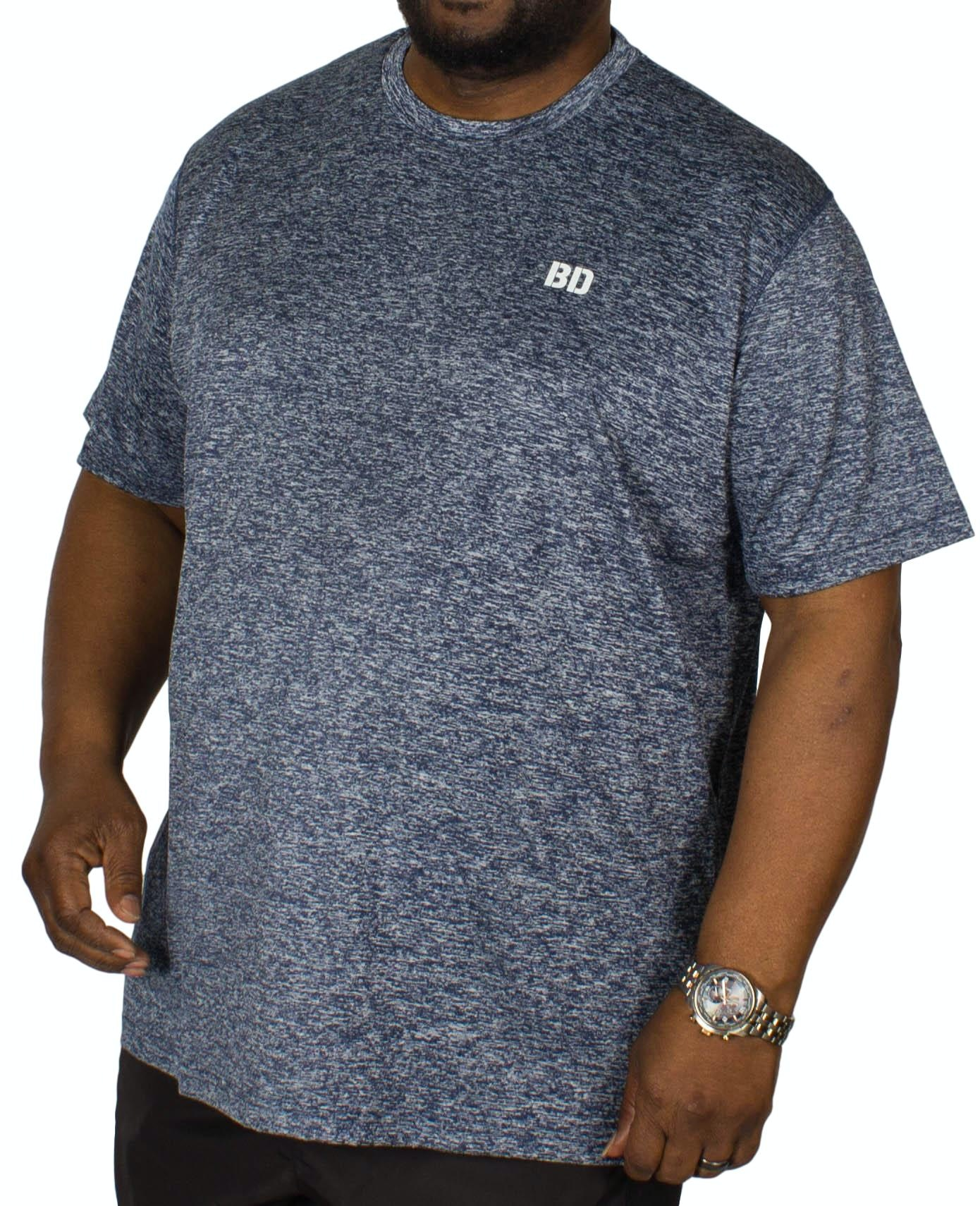 Bigdude Stretch Gym T-Shirt Blue Marl