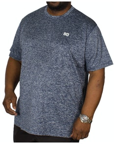 Bigdude Stretch Performance T-Shirt Blue Marl