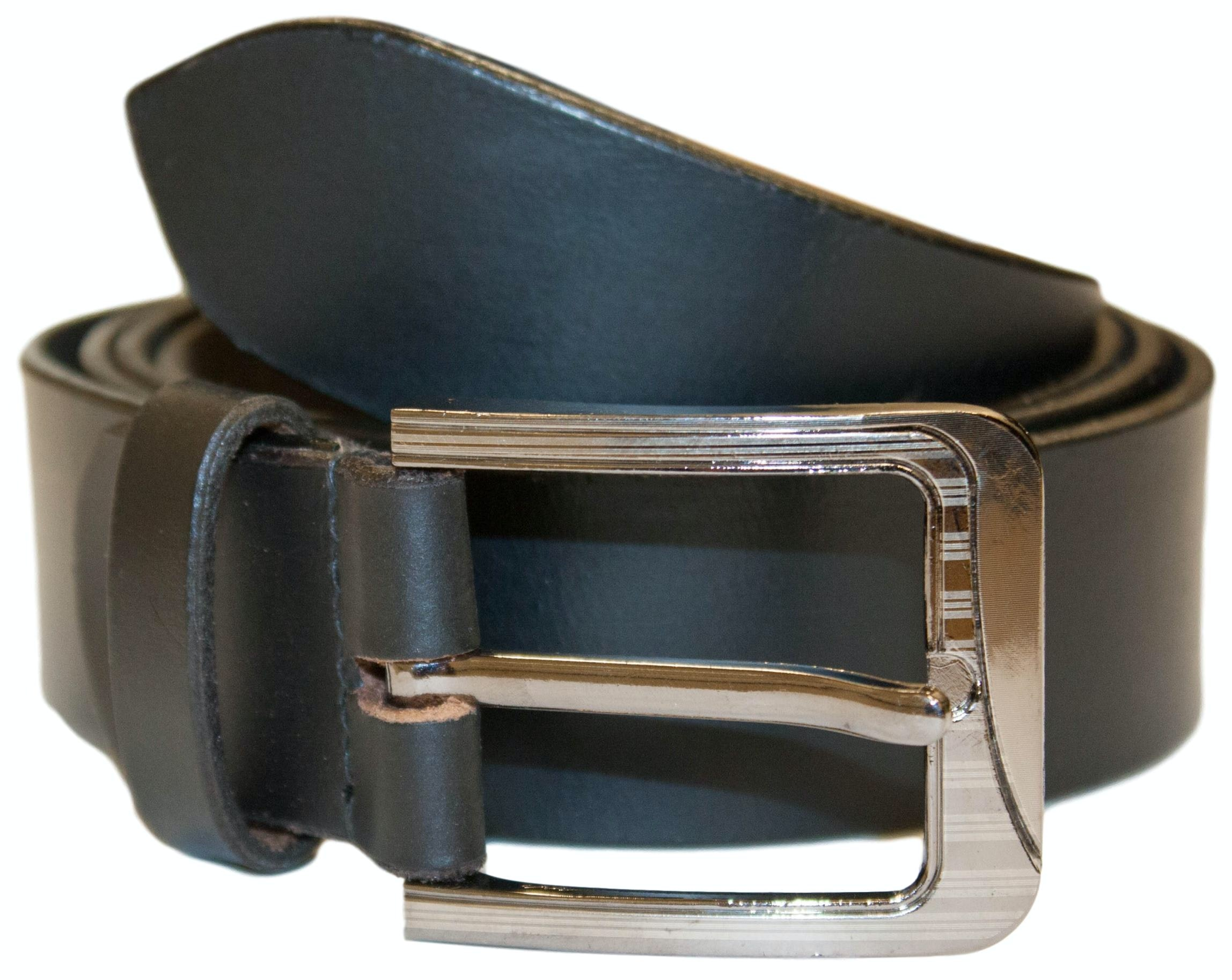 David Leather Belt Black