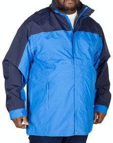 KAM Contrast Showerproof Jacket Navy/Blue