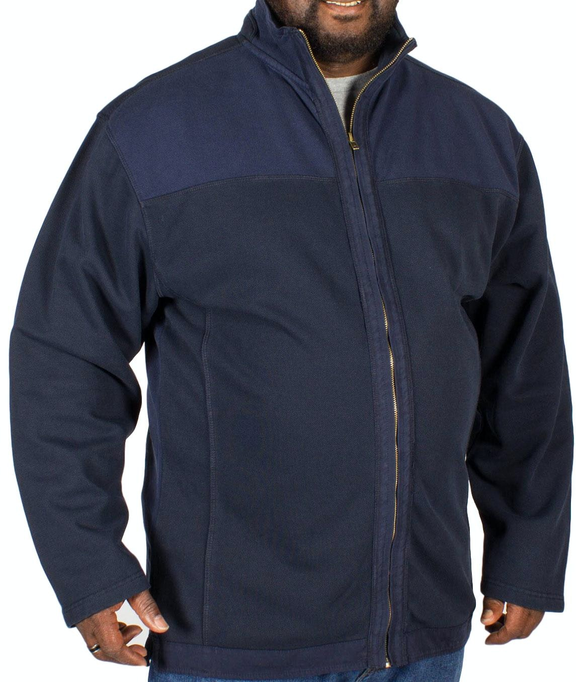 KAM Full Zip Top Navy