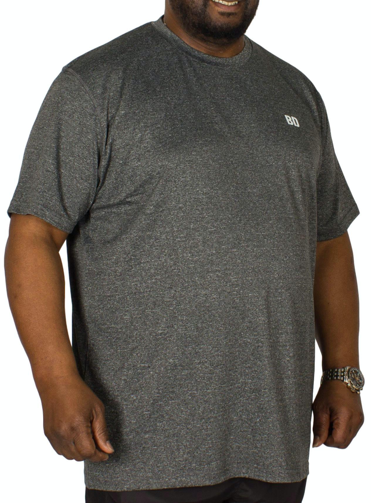 Bigdude Stretch Gym T-Shirt Grey Marl
