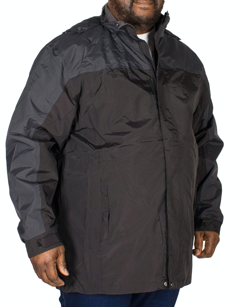 KAM Contrast Showerproof Jacket Black