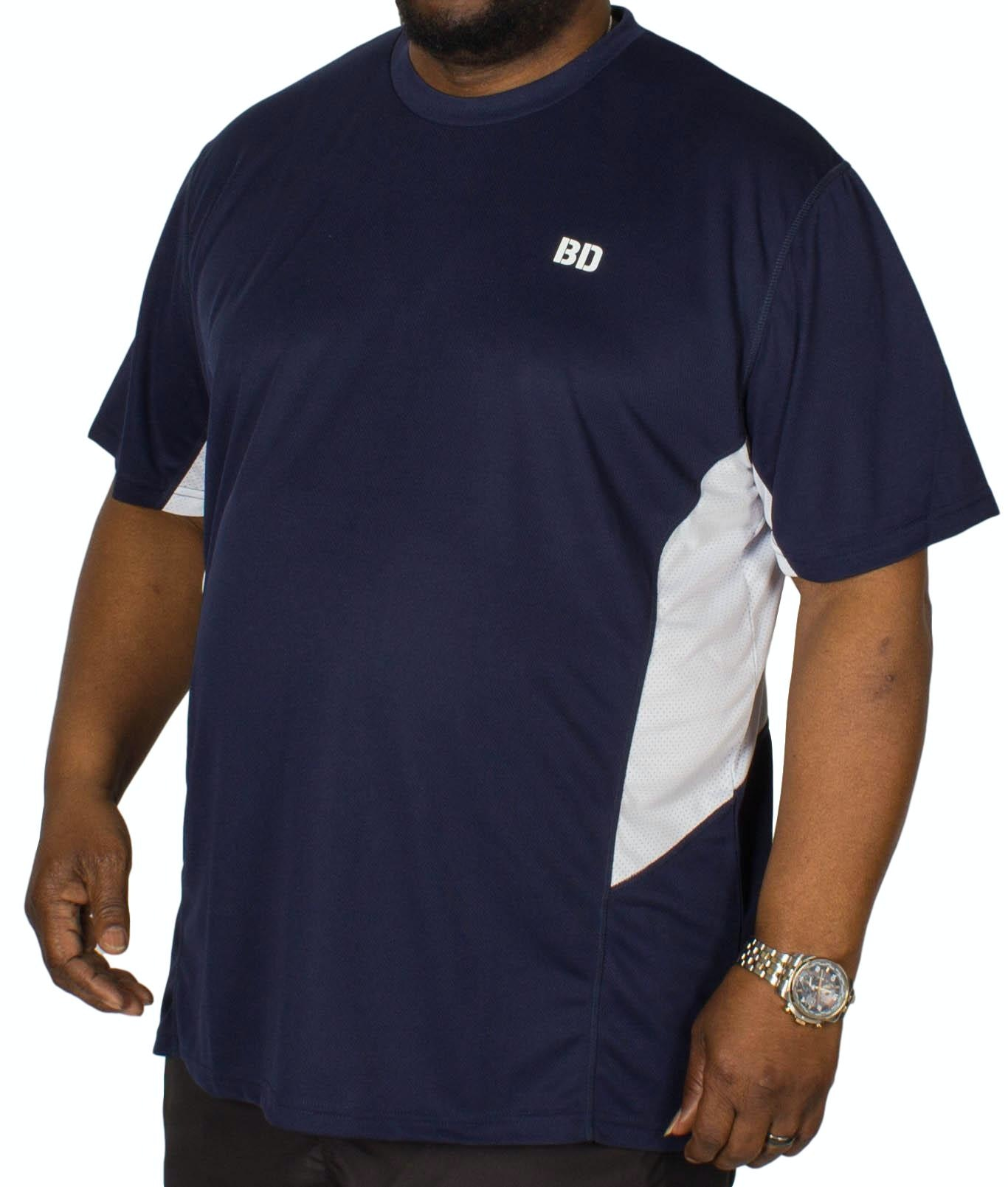 Bigdude Vented Stretch Gym T-Shirt Navy