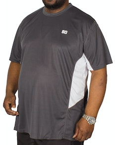 Bigdude Vented Stretch Performance T-Shirt Charcoal