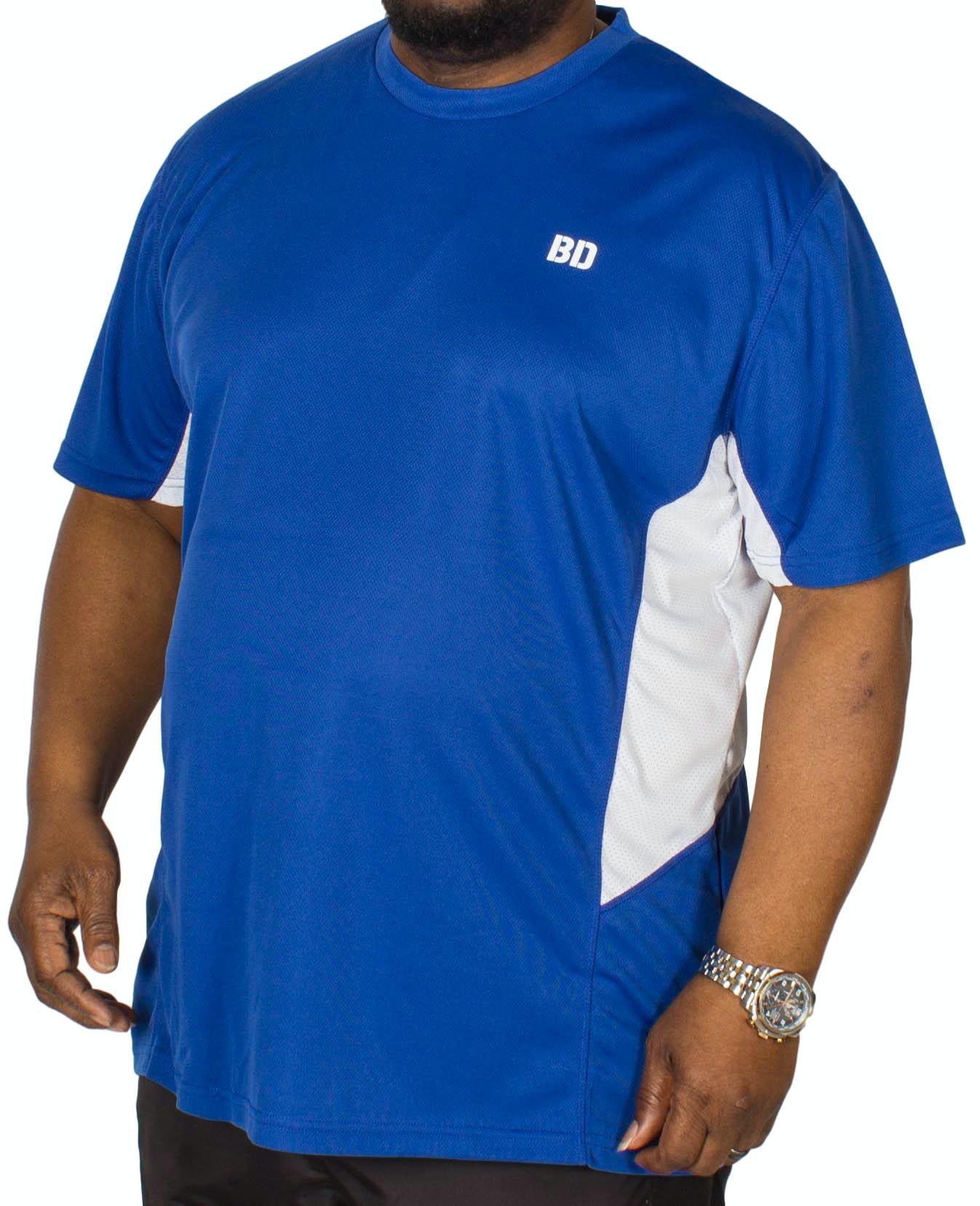Bigdude Vented Stretch Gym T-Shirt Royal Blue