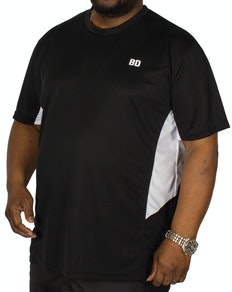 Bigdude Vented Stretch Gym T-Shirt Black