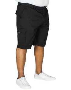 Bigdude Elasticated Waist Cargo Shorts Black