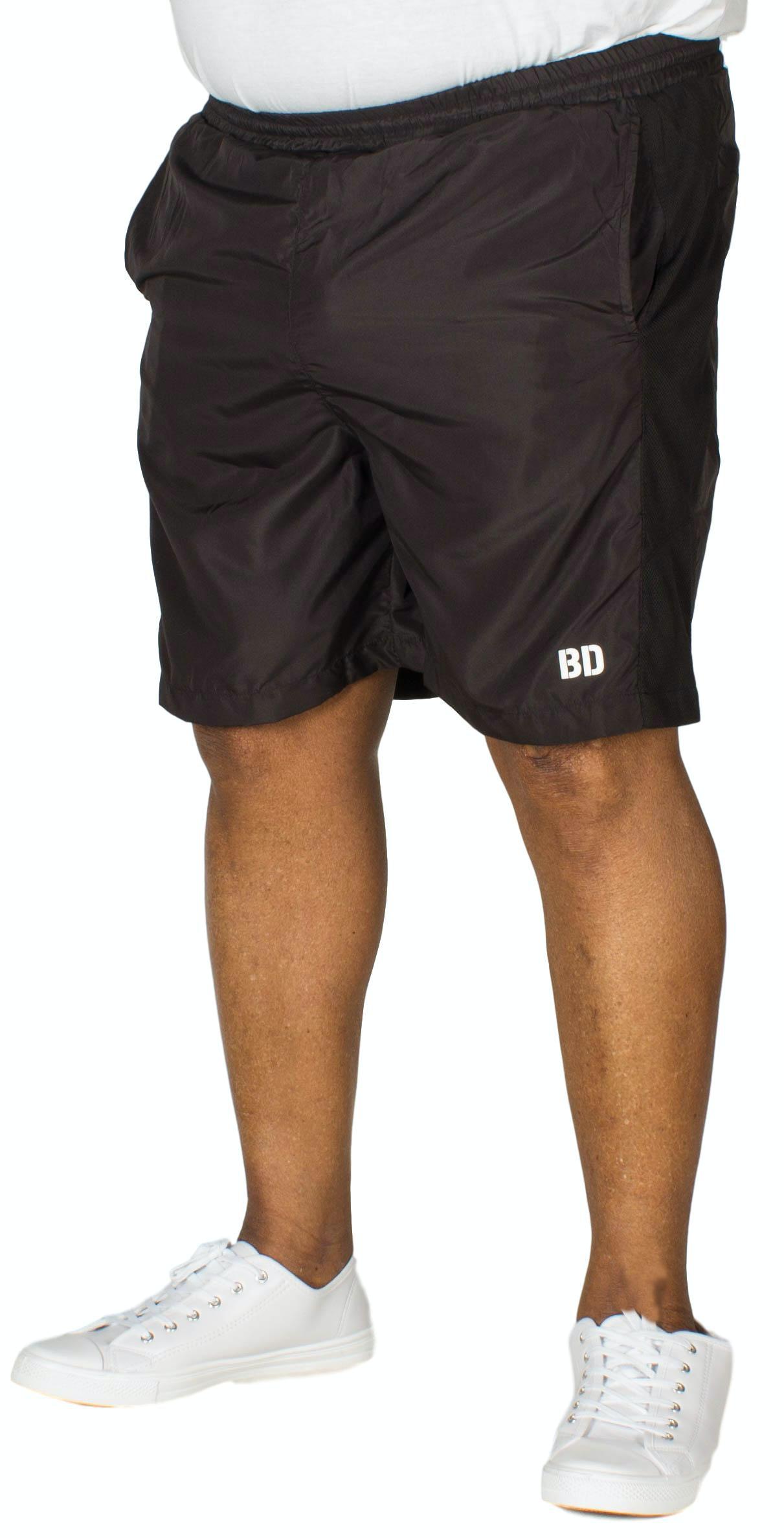 Bigdude Mesh Panel Gym Shorts Black