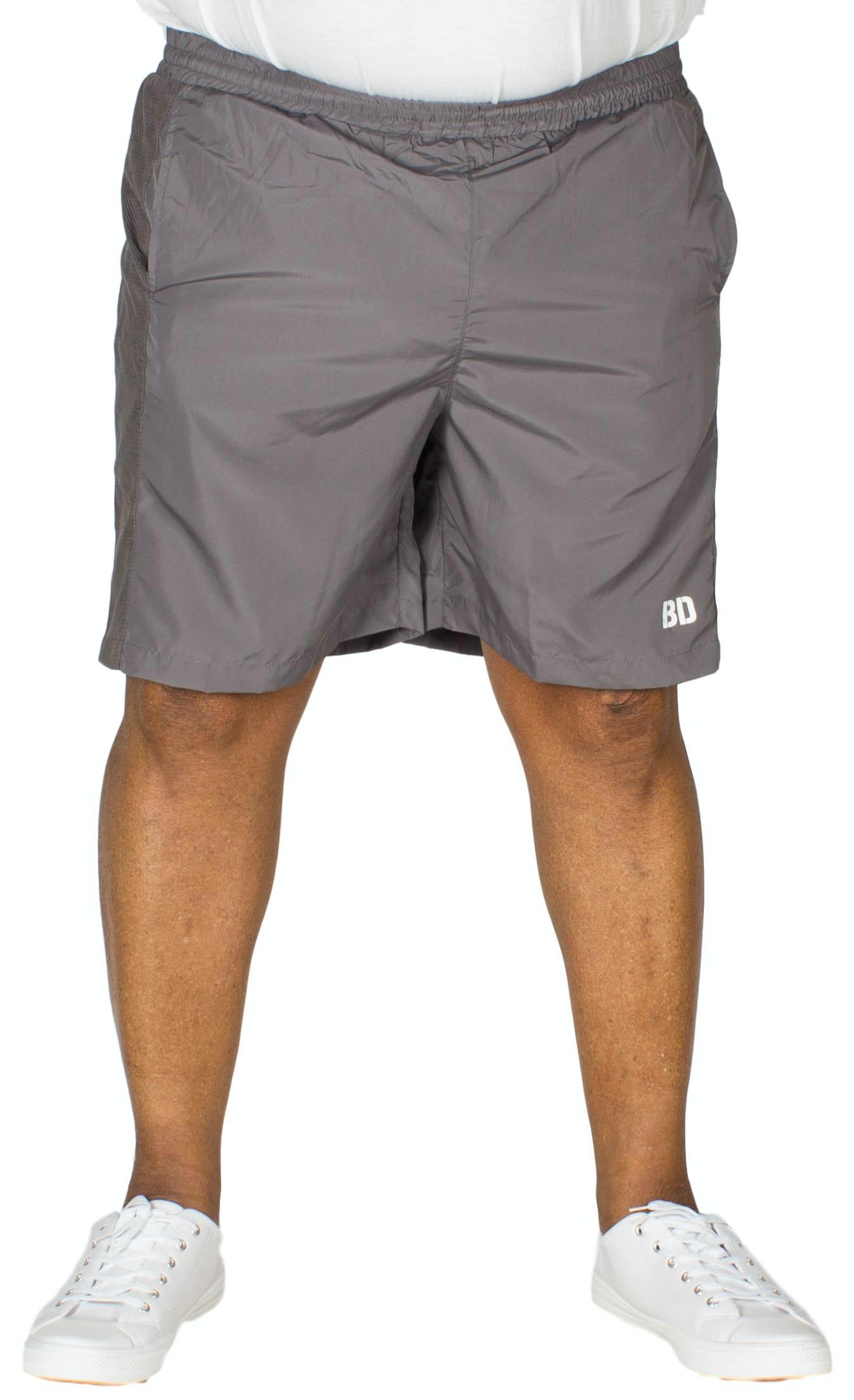 Bigdude Mesh Panel Gym Shorts Charcoal