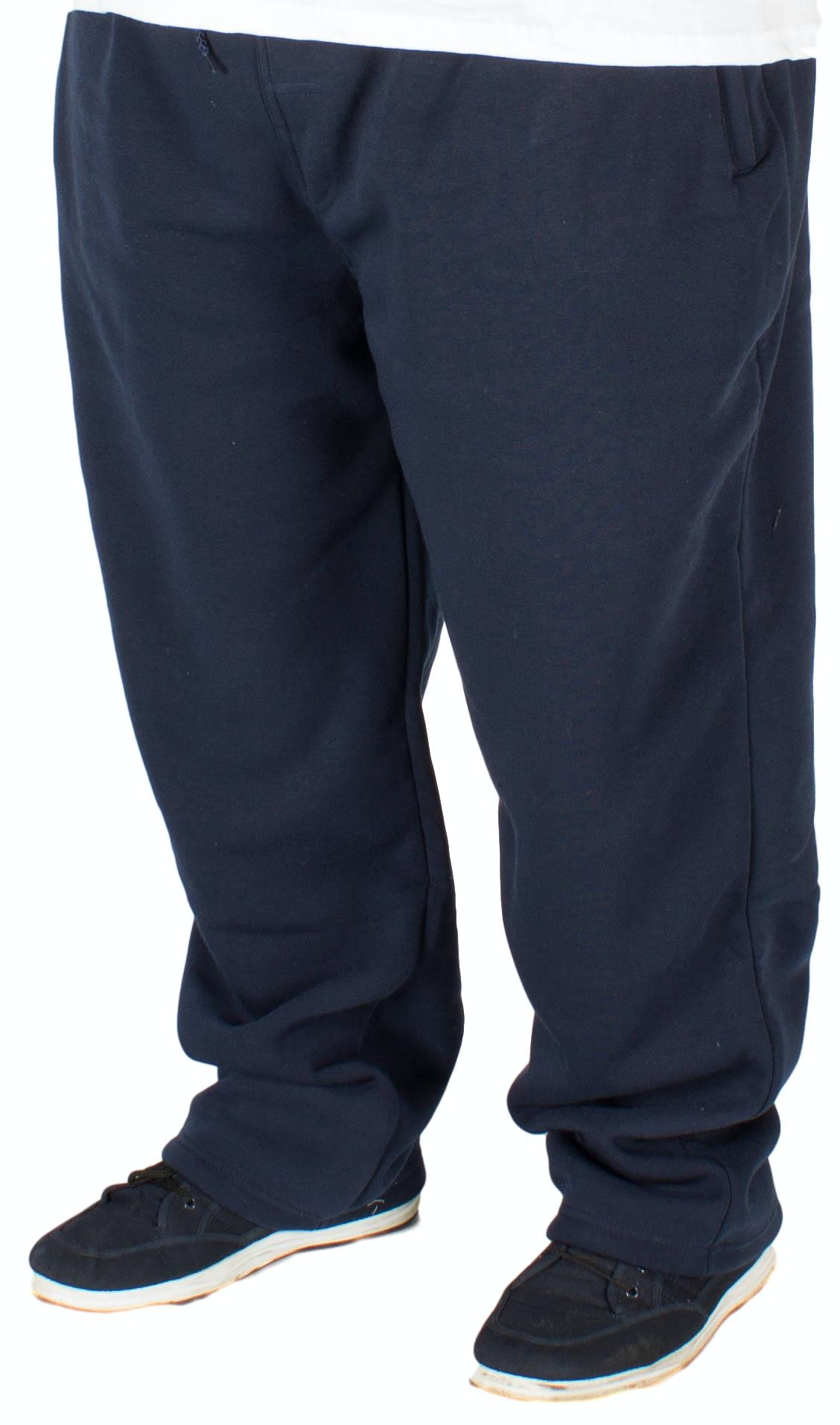 KAM Casual Jog Bottoms Navy Extra Tall
