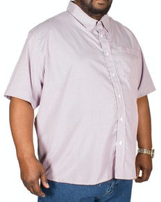 Pierre Roche Short Sleeve Check Shirt Deep Red