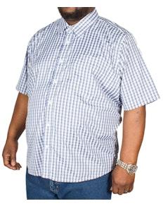 Pierre Roche Short Sleeve Check Shirt Dark Blue
