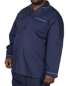 Kings Club Plain Pyjamas Set Navy