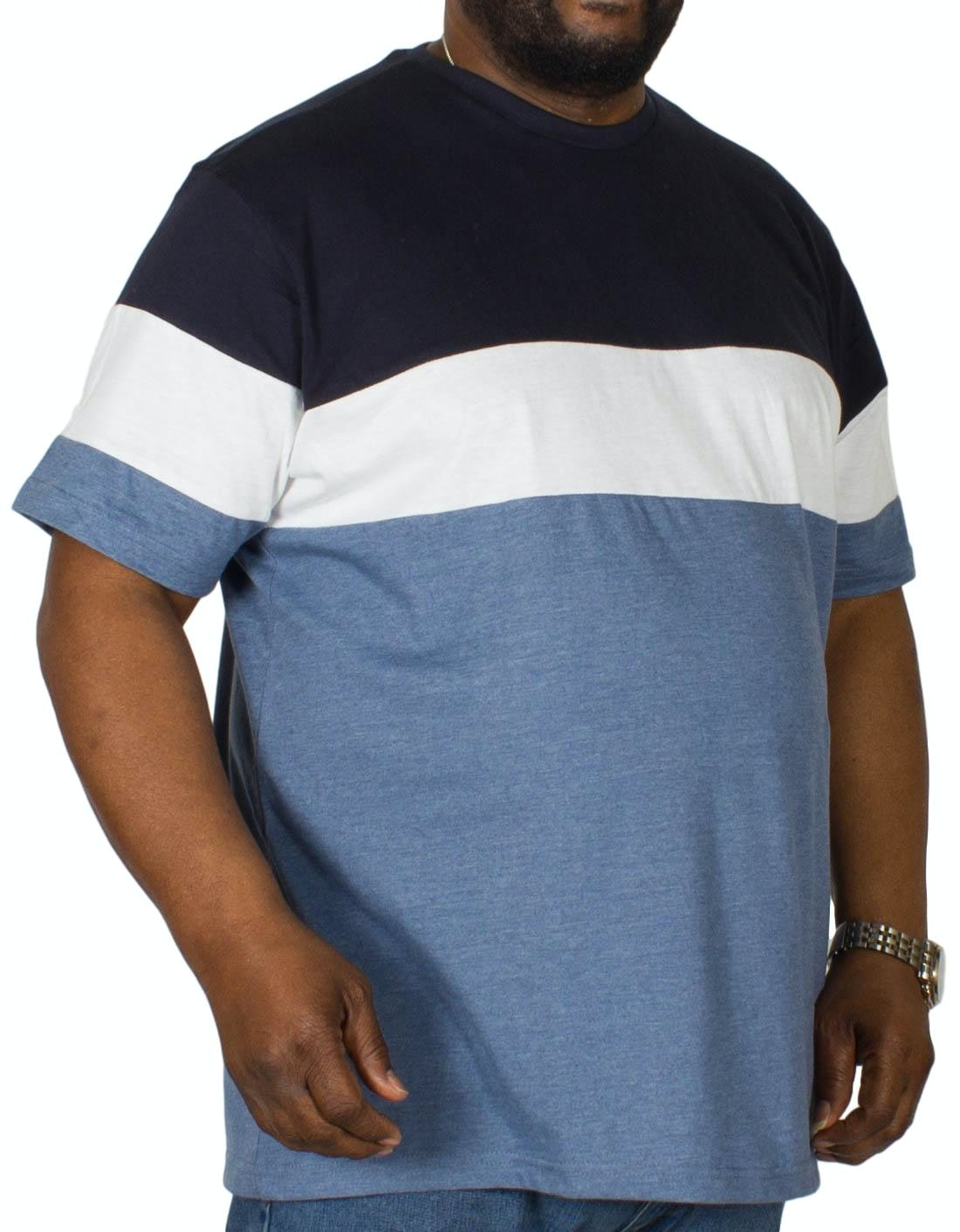 Bigdude Cut & Sew T-Shirt Navy/Denim