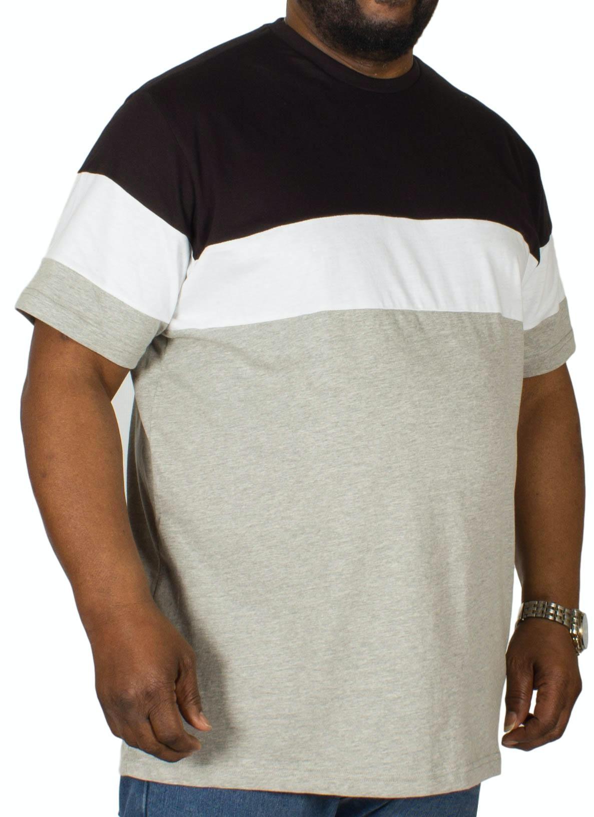Bigdude Cut & Sew T-Shirt Black/Grey