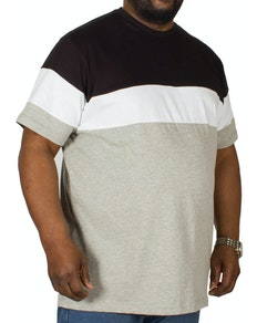Bigdude Cut & Sew T-Shirt Black/Grey