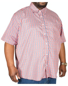 Pierre Roche Short Sleeve Check Shirt Red