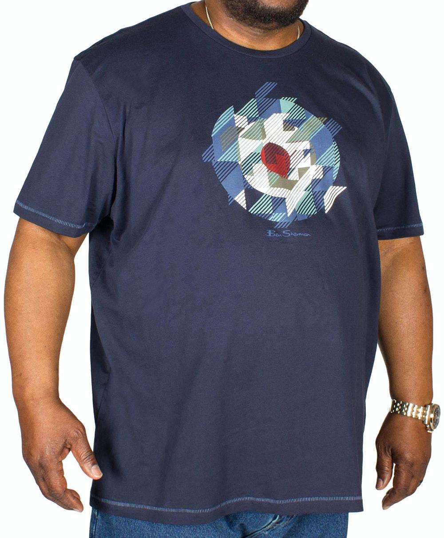 Ben Sherman Chevron Target T-Shirt Navy