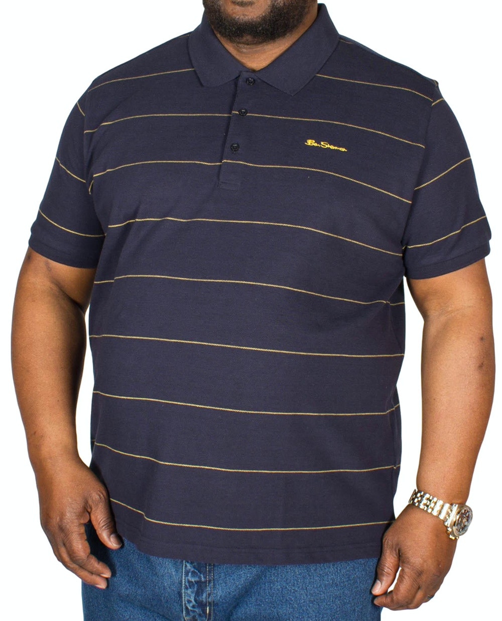 Ben Sherman Classic Stripe Polo Shirt Navy