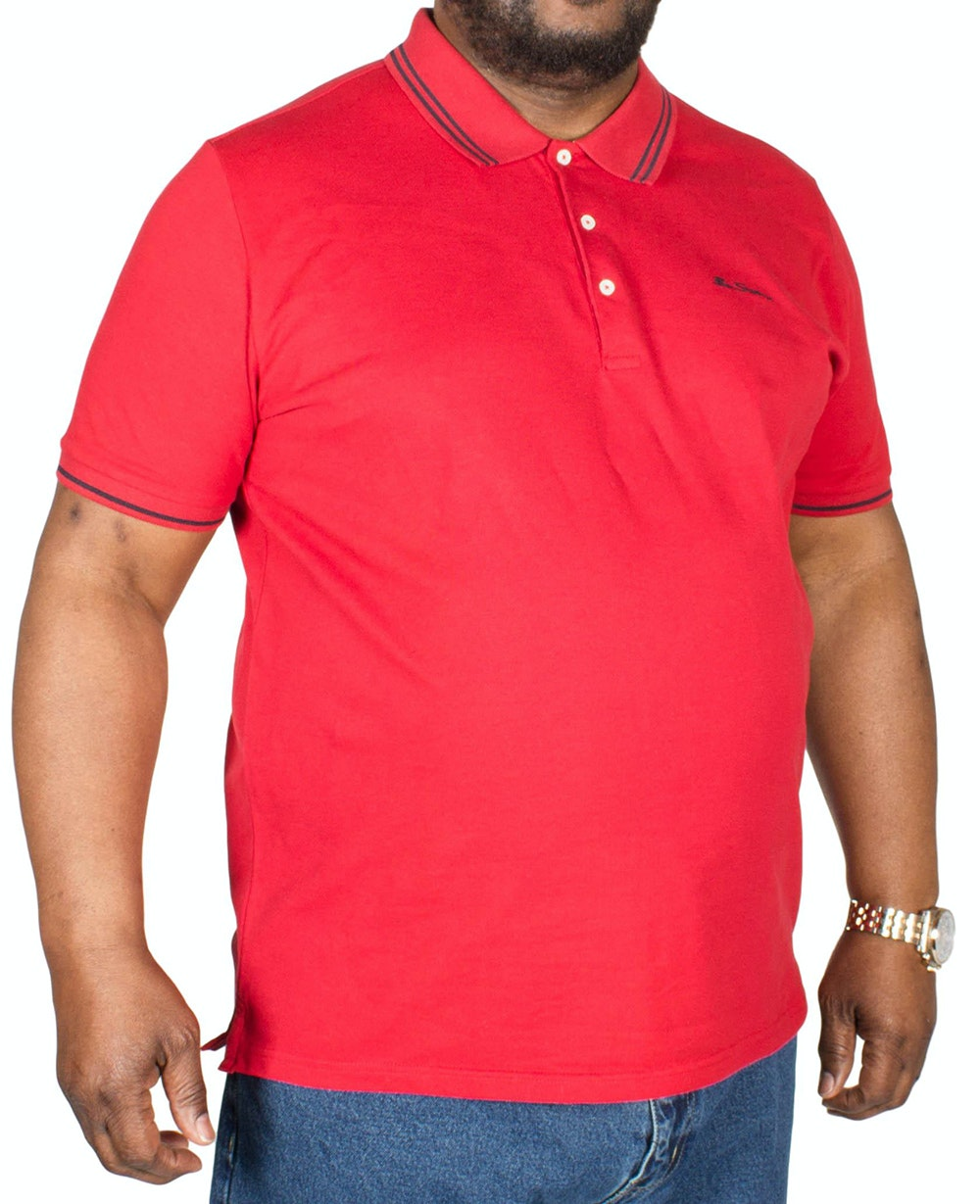 Ben Sherman Script Tipped Polo Shirt Red