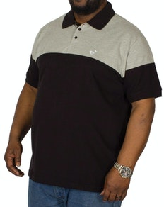 Bigdude Cut & Sew Polo Shirt Grey/Black