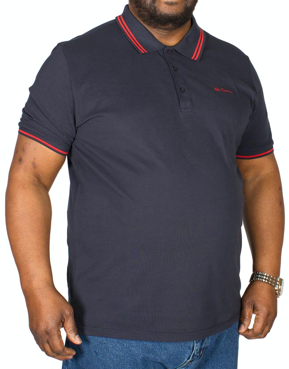 Ben Sherman Script Tipped Polo Shirt Navy