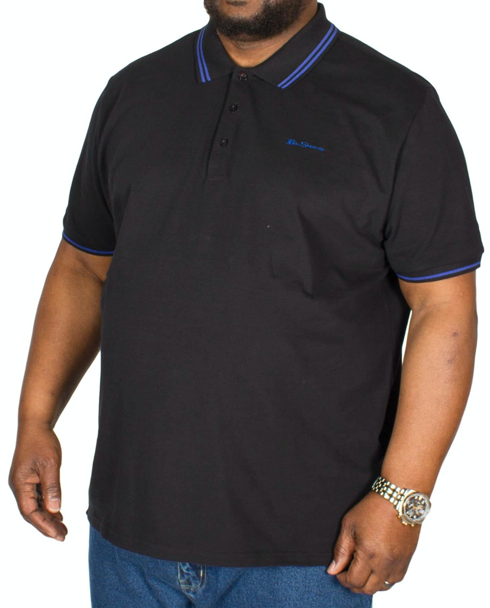 Ben Sherman Script Tipped Polo Shirt Black
