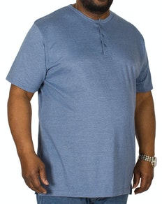 Bigdude Grandad T-Shirt Denim Marl Tall