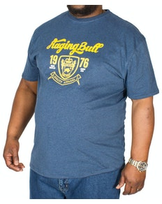 Raging Bull Crest T-Shirt Navy Marl