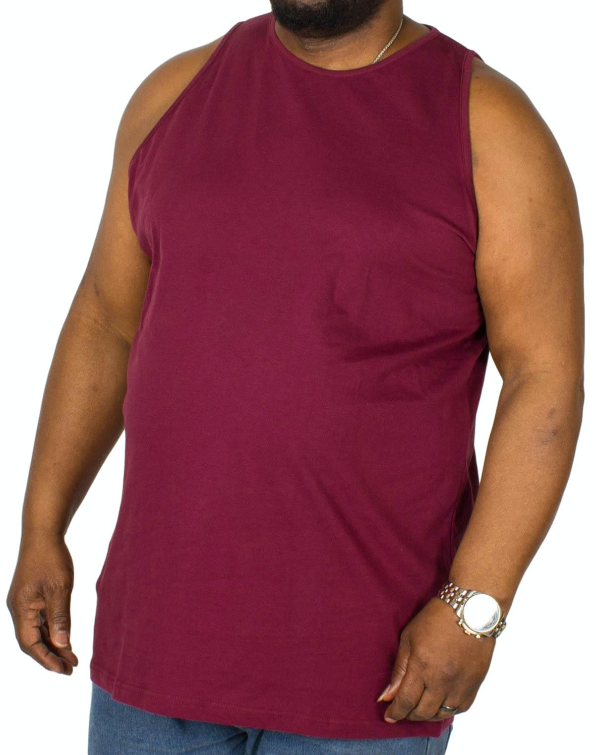 Bigdude Plain Vest Burgundy Tall