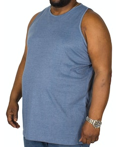 Bigdude Plain Vest Denim Marl