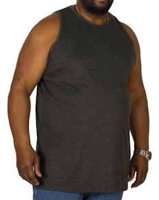 Bigdude Plain Vest Charcoal