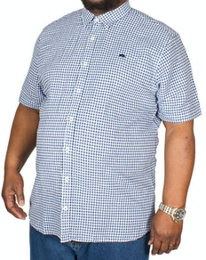 Raging Bull Gingham Check Shirt Navy