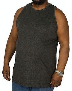 Bigdude Plain Vest Charcoal Tall