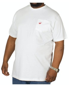 Bigdude Signature Pocket T-Shirt White/Red Tall