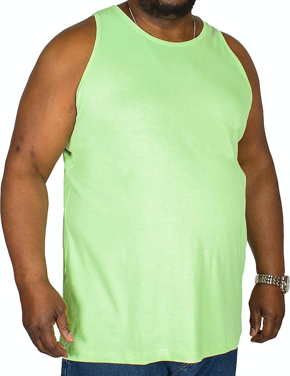Bigdude Plain Vest Green
