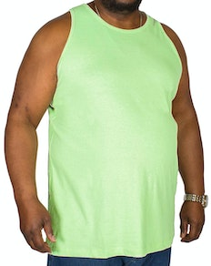 Bigdude Plain Vest Lime Green Tall