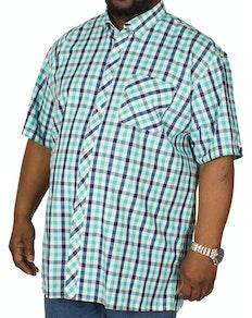 8dfa15a64eb3 Espionage Short Sleeve Check Shirt Navy/Mint
