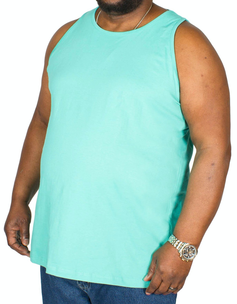 Bigdude Plain Vest Turquoise