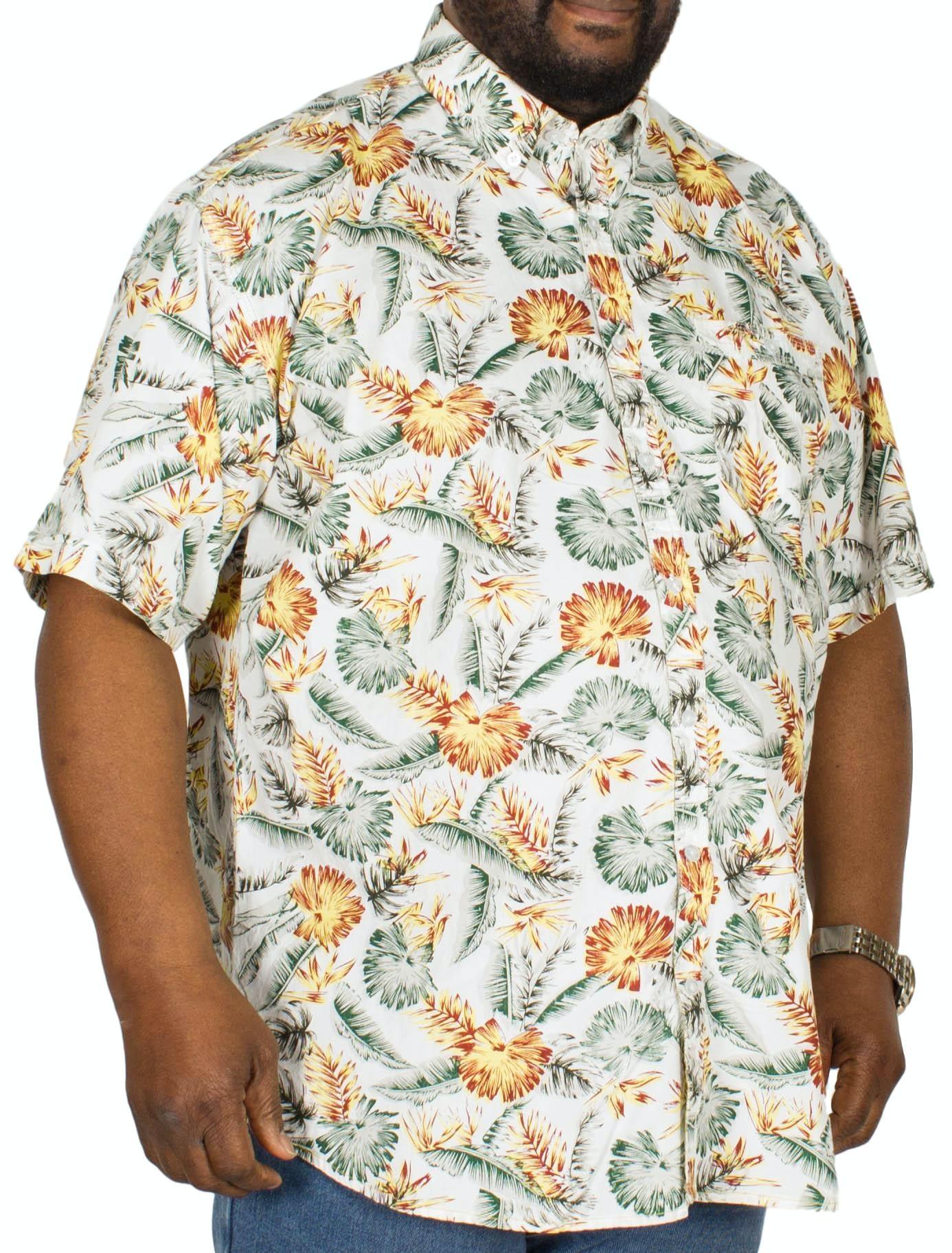 Espionage All Over Print Floral Shirt Green/Orange